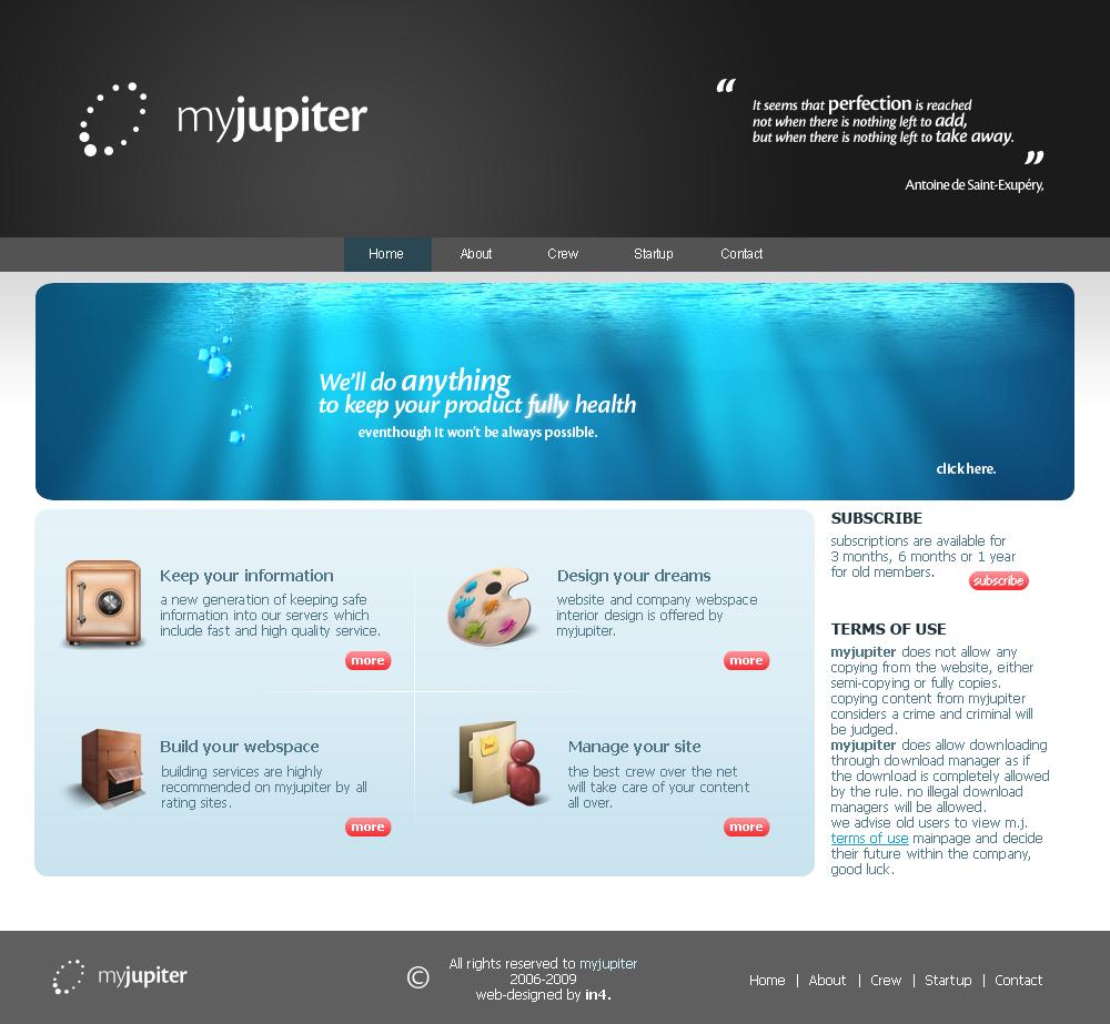 myJupiter by in4 by webgraphix