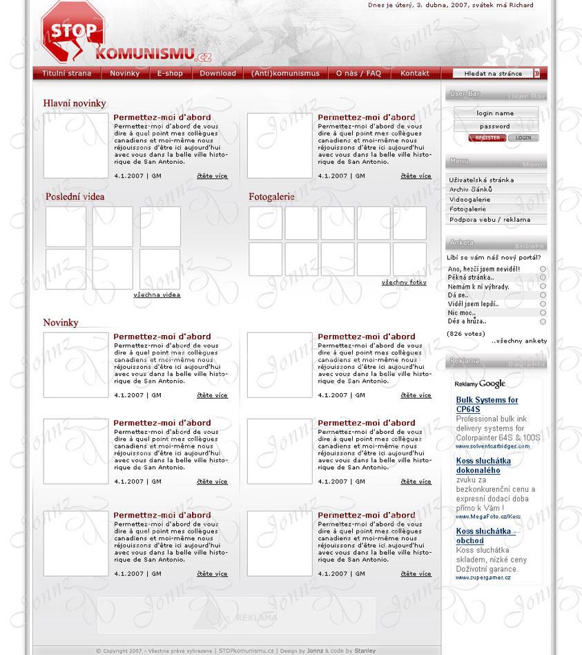 Stop Komunismu webdesign by webgraphix