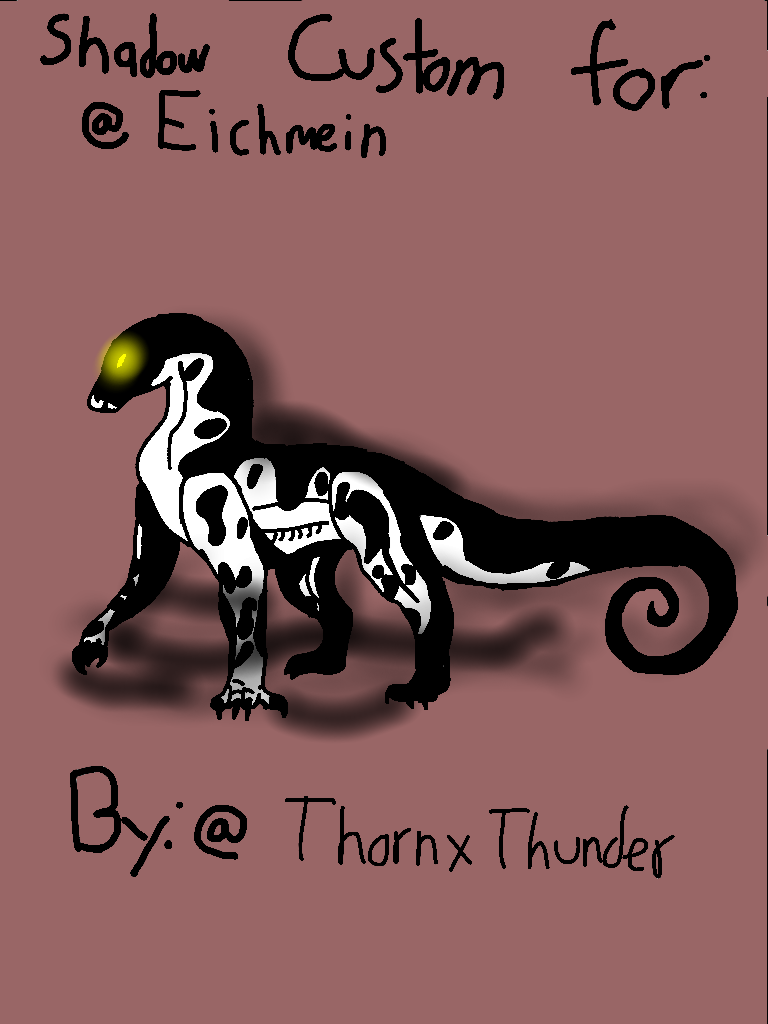 First shadow Laceodon custom by ThornxThunder