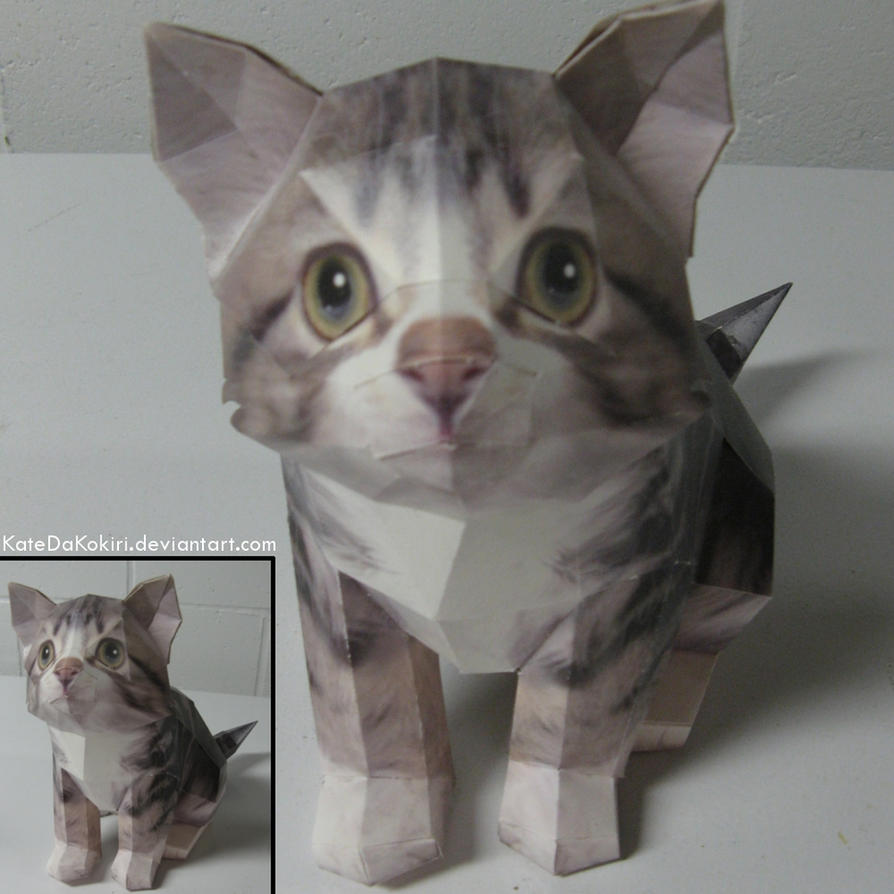 Kitty Papercraft by KatedaKokiri
