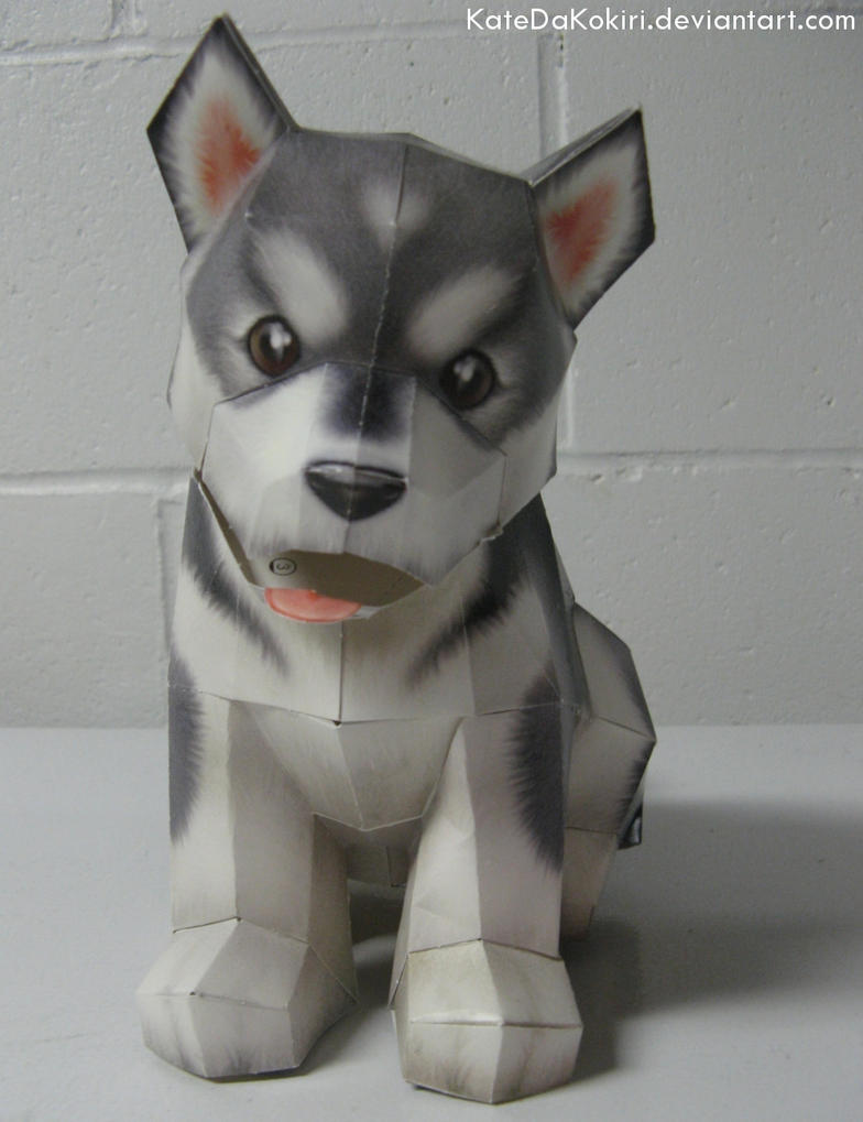 Puppy Papercraft by KatedaKokiri