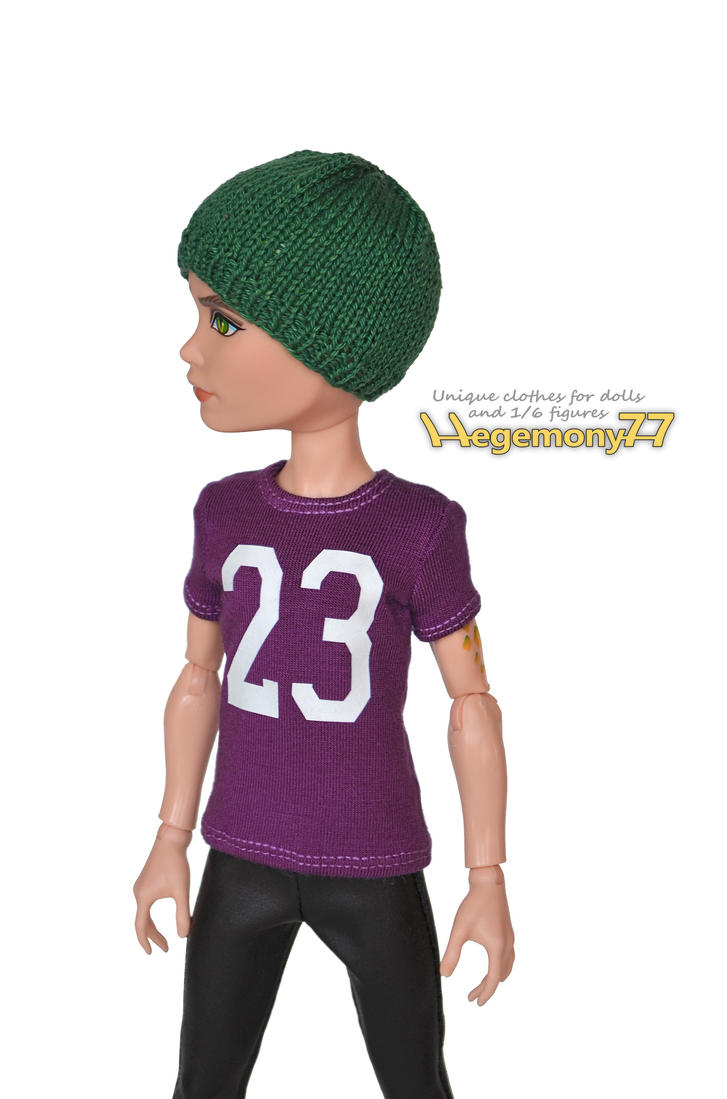 Monster high boy doll in custom doll t shirt hat by for Custom t shirts and hats