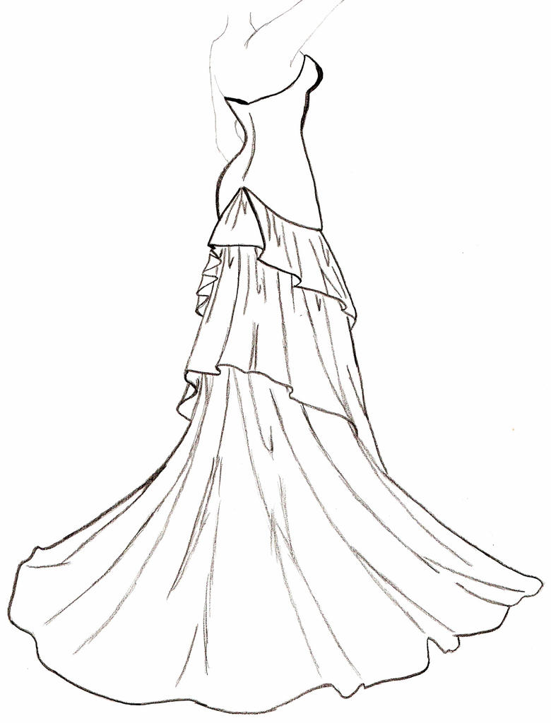 wedding dress coloring pages - photo#23