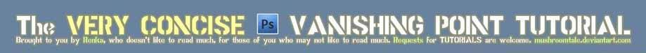 Concise Tutorial: Vanishing Pt