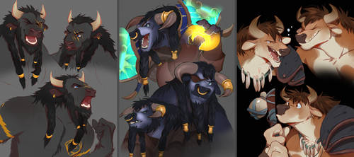 tauren commissions by manabreakfast
