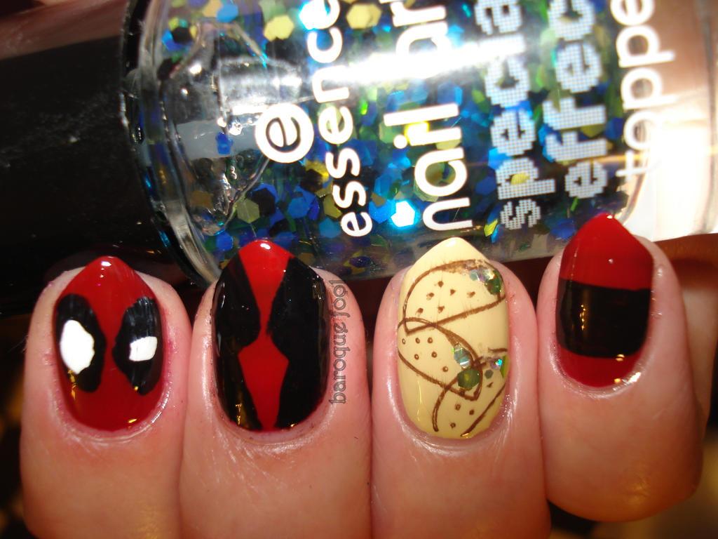 Deadpool nails by naniii ... - Deadpool Nails By Naniii On DeviantArt