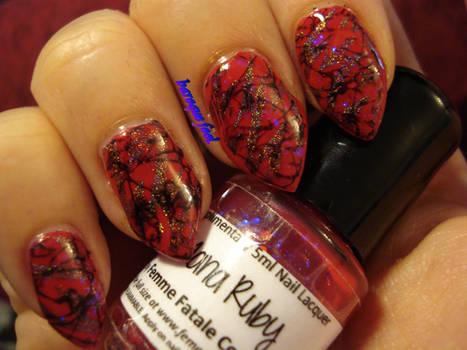Naughty V-day nails