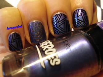 Sci-fi costume nails