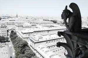 Paris .:. Gargoyle Boredom by Jubriel