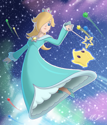 Rosalina and Luma by Toonexterminator