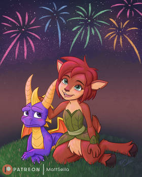 Spyro and Elora - Let's Watch the Show