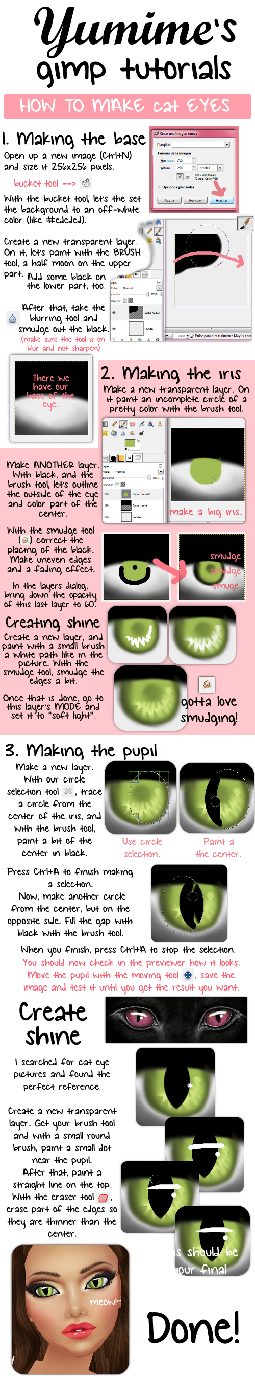 how to make cat eyes with gimp by carmenms on deviantart