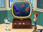 Woody and Buzz watch Finding Nemo