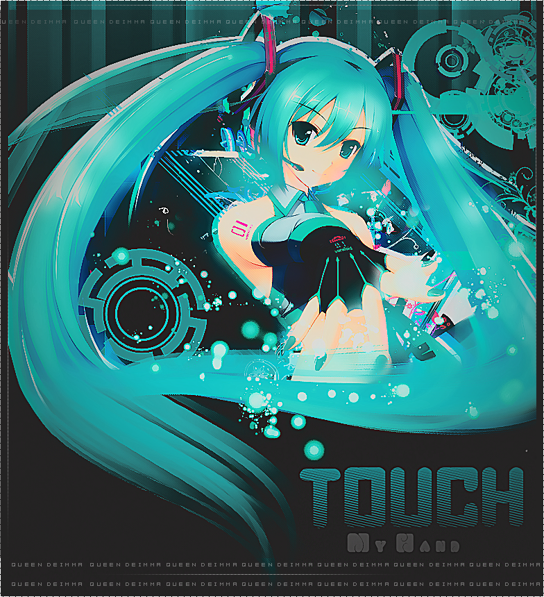 Touch my hend - miku - By Queen Deimma by QueenDeimma
