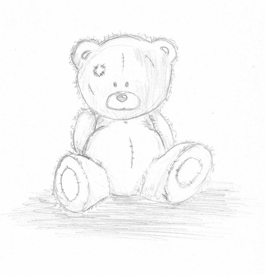 Как рисовать открытки тедди, поздравлением лет девушке