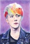 Oh Sehun (color portrait)