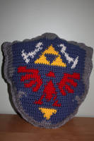 Hylian Shield Pillow by rdekroon
