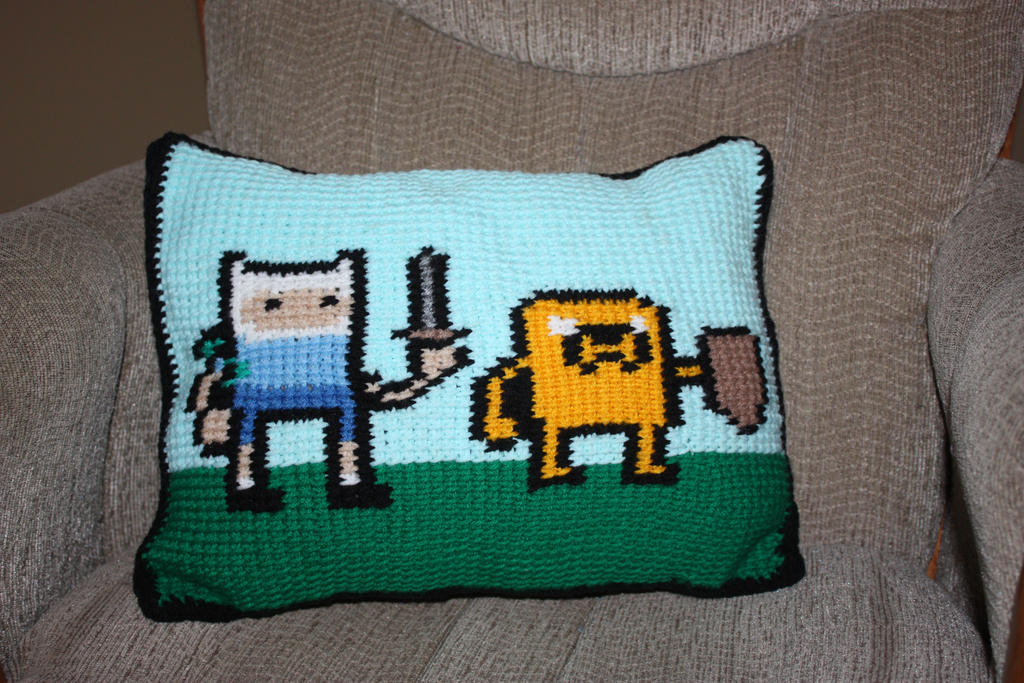 Adventure Time Crochet Pillow by rdekroon