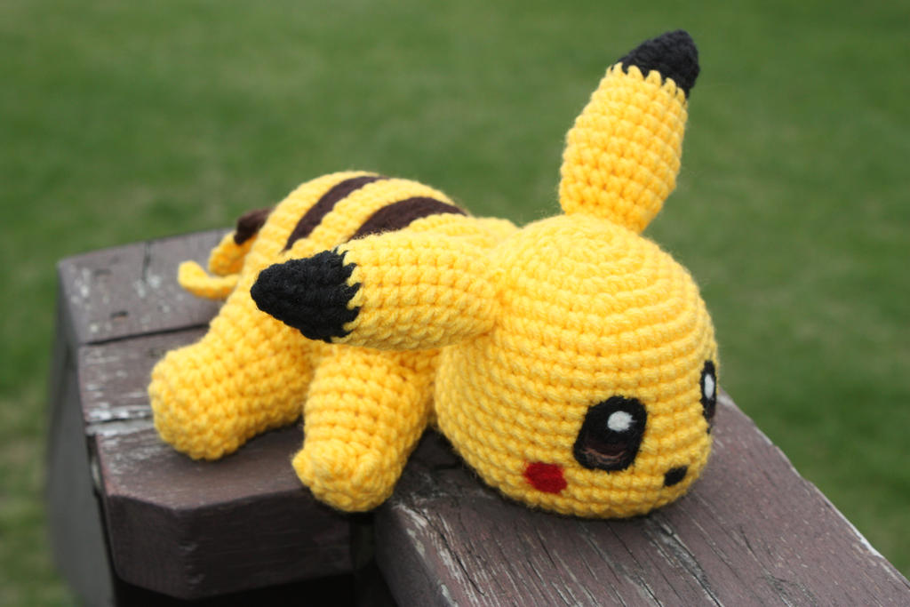 Amigurumi Free Patterns Bunny : Pikachu Crochet Doll by rdekroon on DeviantArt