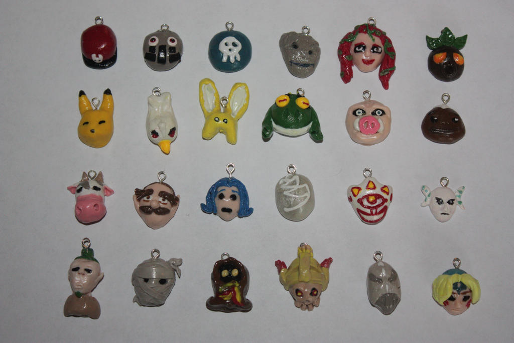 Majora's Mask In Game Masks Charms by rdekroon