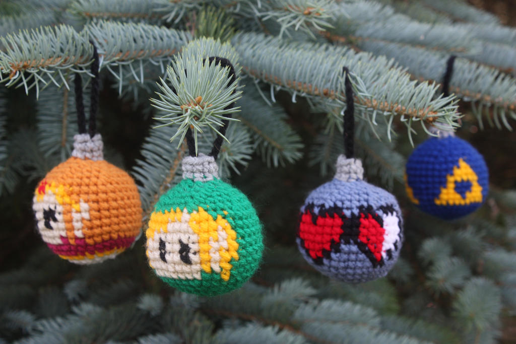 Legend of Zelda Christmas Ornaments by rdekroon
