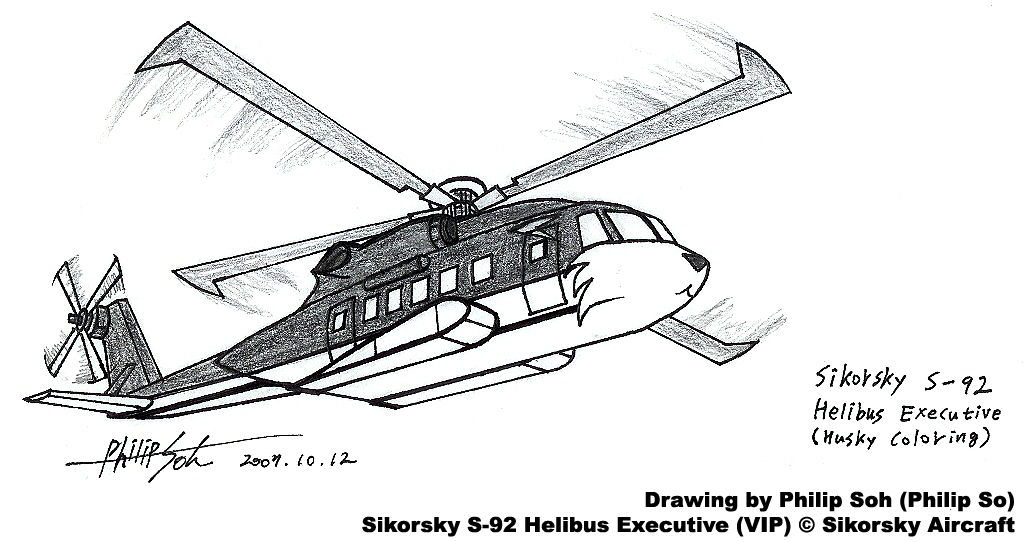 Canine Coloring Helicopter