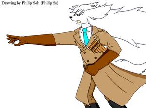 Cond. Philip's New Costume and Braveful Pose