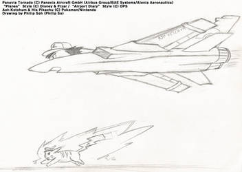 Ash Ketchum The Fighter Plane Sketch by sojh85