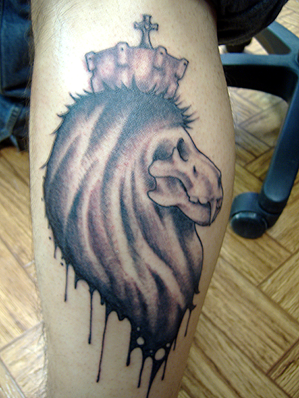 Tattoo pictures by maria baldwin for Lion skull tattoo