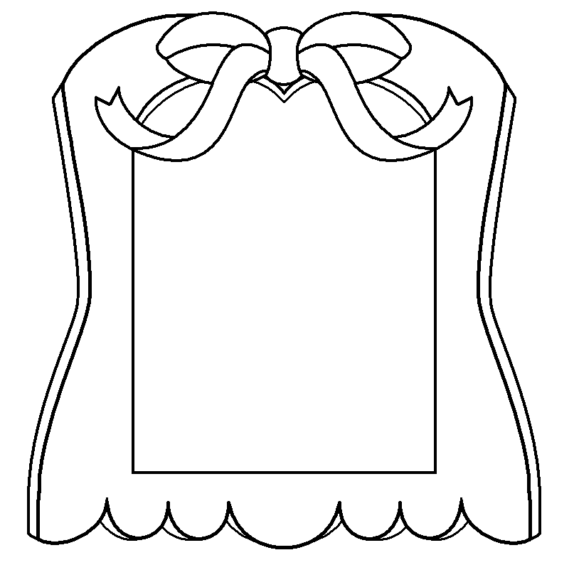 Mirror Coloring Page Dream Mirror Blank by ...