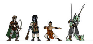 Paper Miniatures: RPG Group