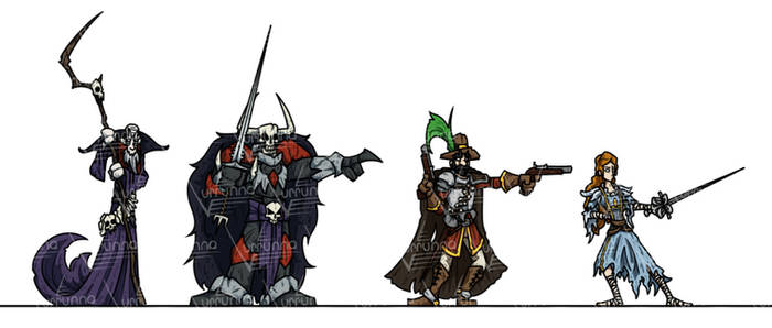 OPR Paper Minis: Darkness Within Heroes