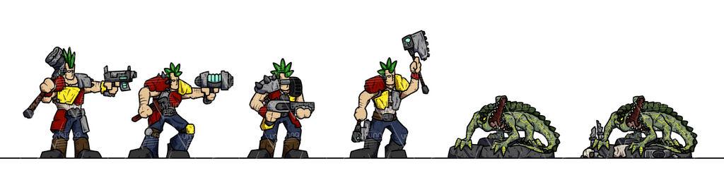 OPR Paper Minis: Gang Wars Brutes
