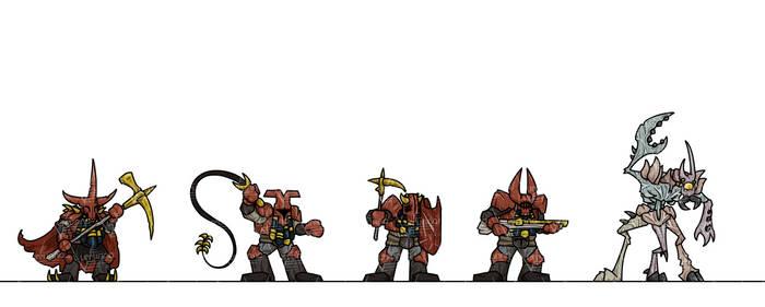 OPR Paper Minis: Havoc Dwarves