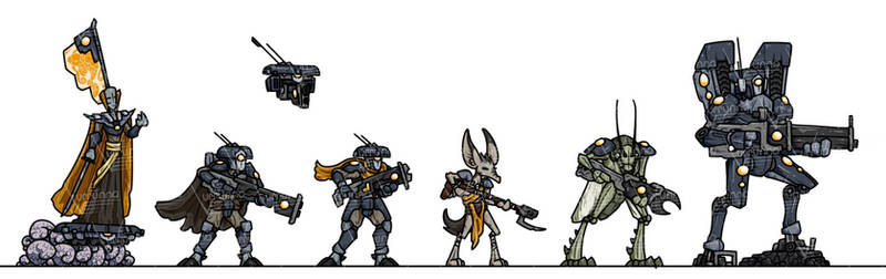 OPR Paper Minis: TAO Coalition
