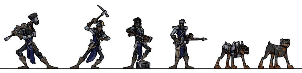 OPR Paper Minis: Gang Wars Miners