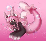 (Commission) Bunny Mermaid