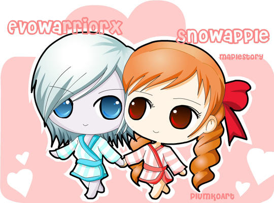 MapleStory-Just a chibi couple by pkumo