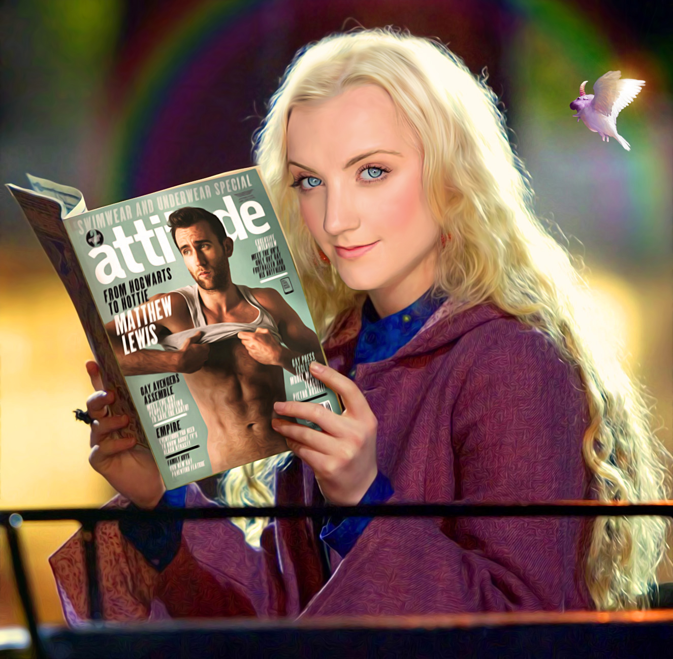 Luna Lovegood with muggle magazine by SaveUzz on DeviantArt