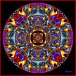 Red eye mandala