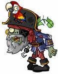 Pirate captain zombie