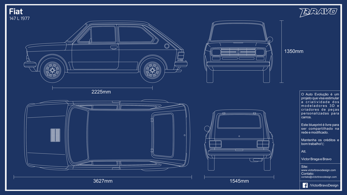 Blueprint fiat 147 l 1977 by victorbravodesign on deviantart blueprint fiat 147 l 1977 by victorbravodesign malvernweather Gallery