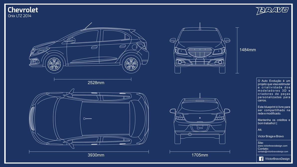 Blueprint Chevrolet Onix LTZ 2014 by VictorBravoDesign on DeviantArt
