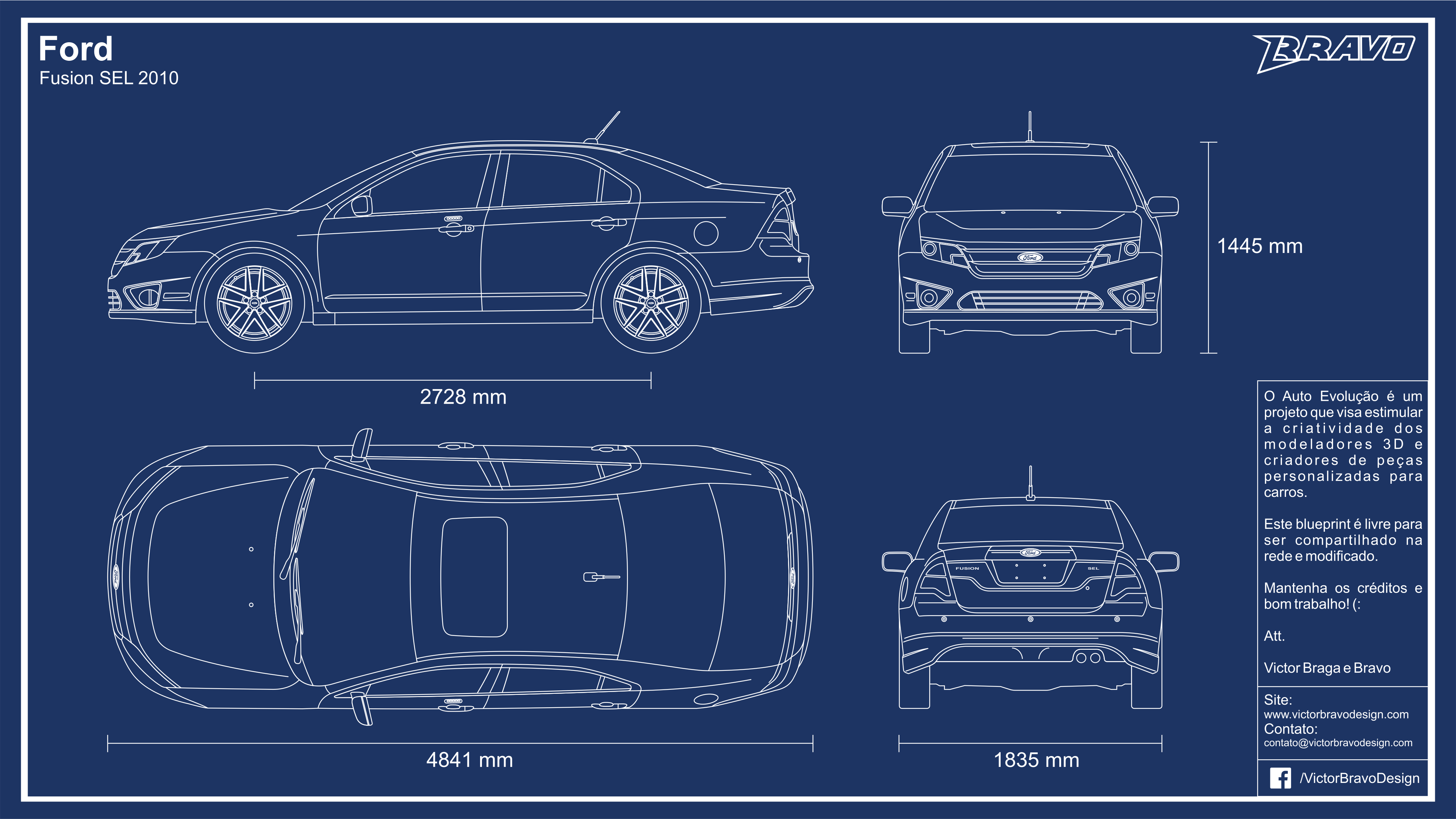 Blueprint ford fusion sel 2010 by victorbravodesign on deviantart victorbravodesign blueprint ford fusion sel 2010 by victorbravodesign malvernweather Images