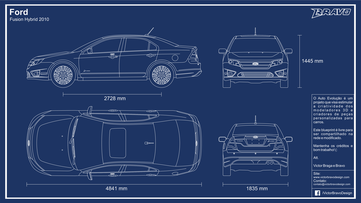 Blueprint ford fusion hybrid 2010 by victorbravodesign on deviantart blueprint ford fusion hybrid 2010 by victorbravodesign malvernweather Images