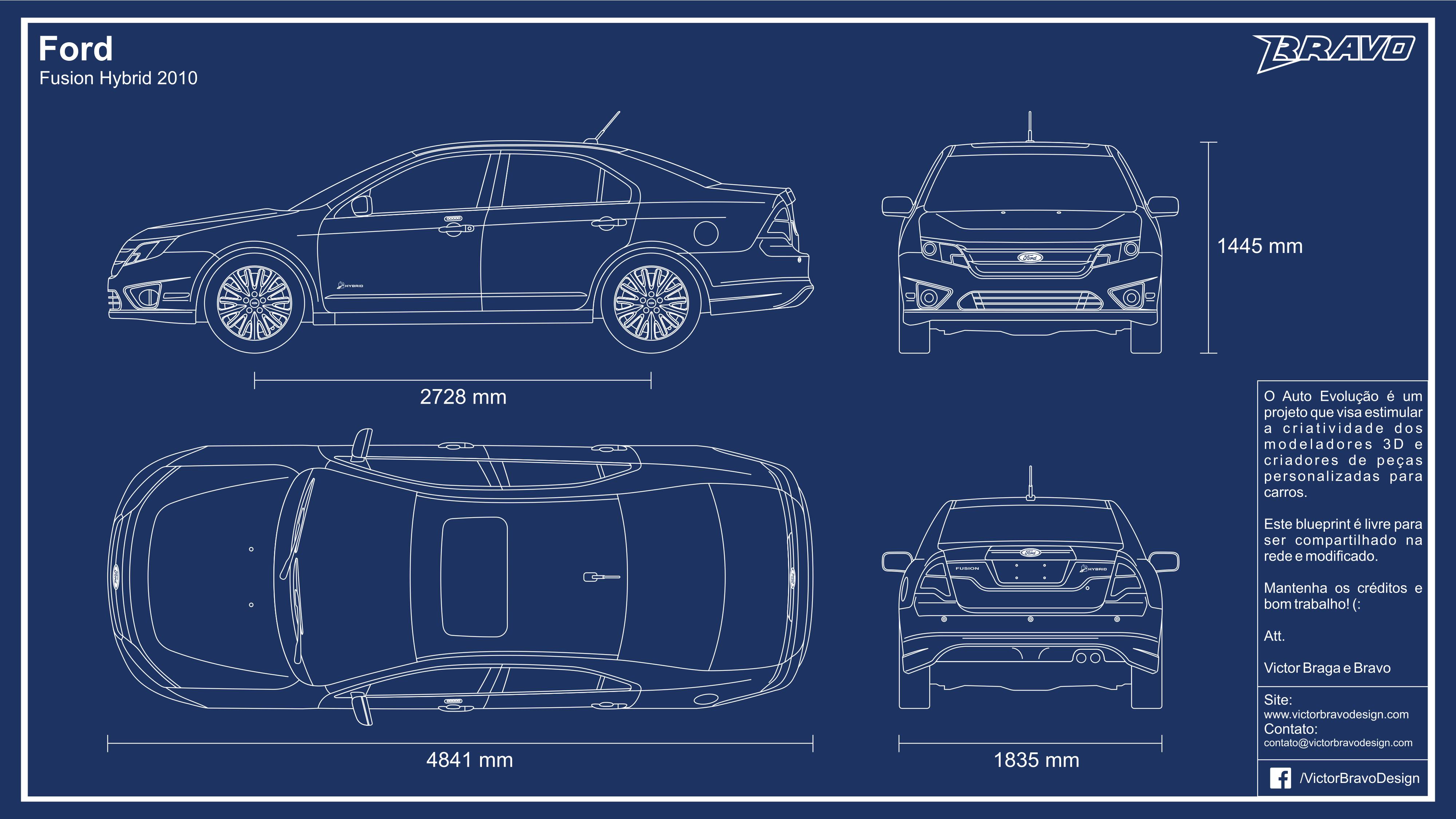 2017 Ford Fusion Hybrid Se >> Blueprints - Ford Fusion Hybrid 2010