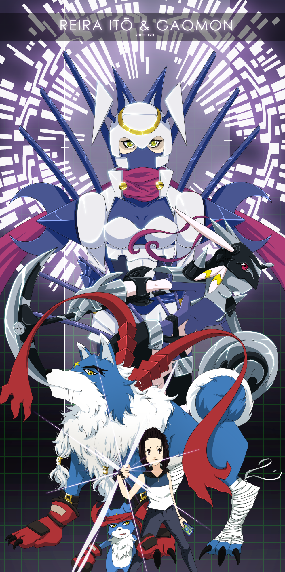 : Reira and Gaomon Evolution Line : by Ajdra on DeviantArt