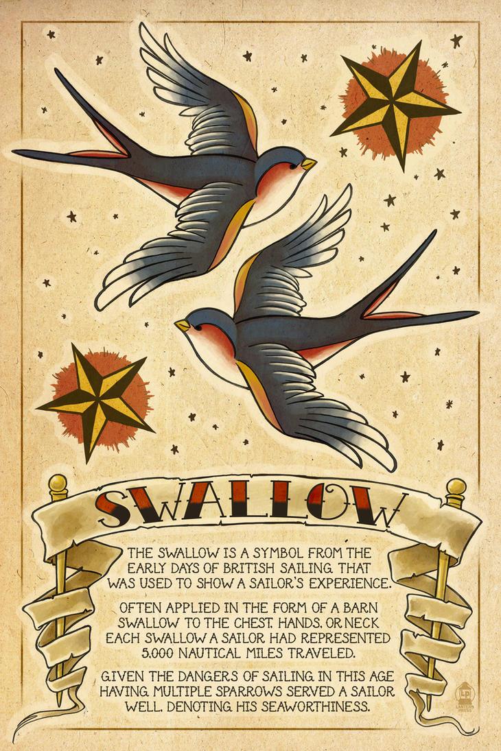 Swallow Tattoos by AlixBranwyn