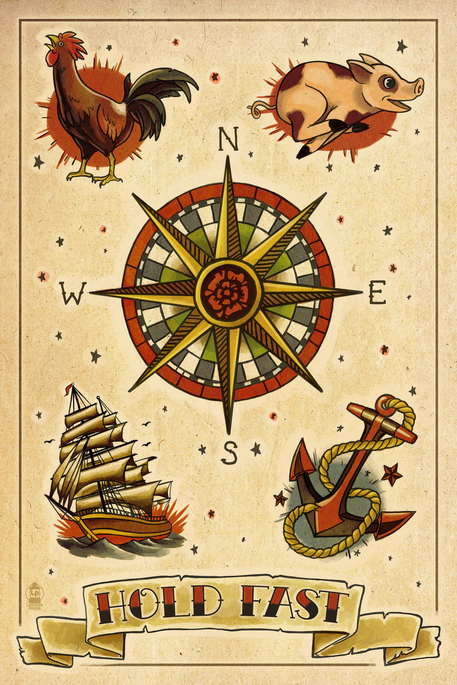 Sailor Tattoo Flash by Chronoperates