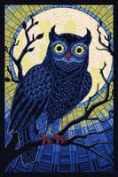 Paper Mosaic Owl by AlixBranwyn